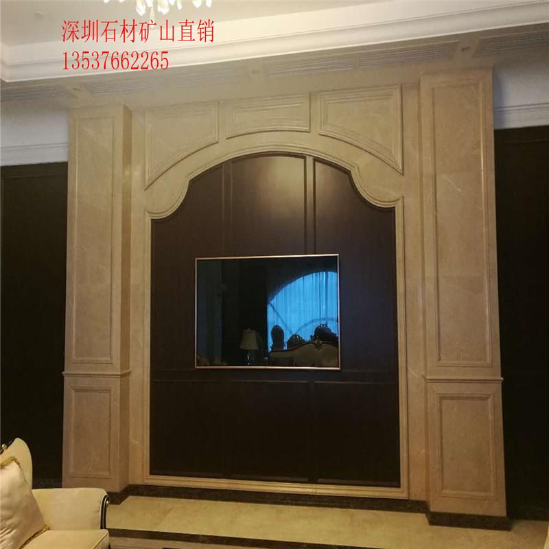 沙发背景墙厂家直销深圳大理石电视背景大理石厂家