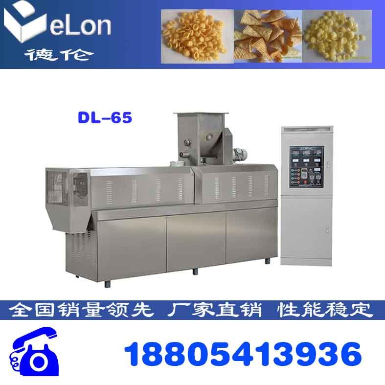 锅巴加工设备 膨化食品生产线 双螺杆膨化机