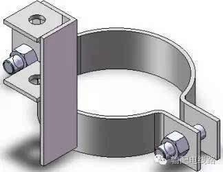 pvc排水管抱箍扁铁抱箍制作制造厂家