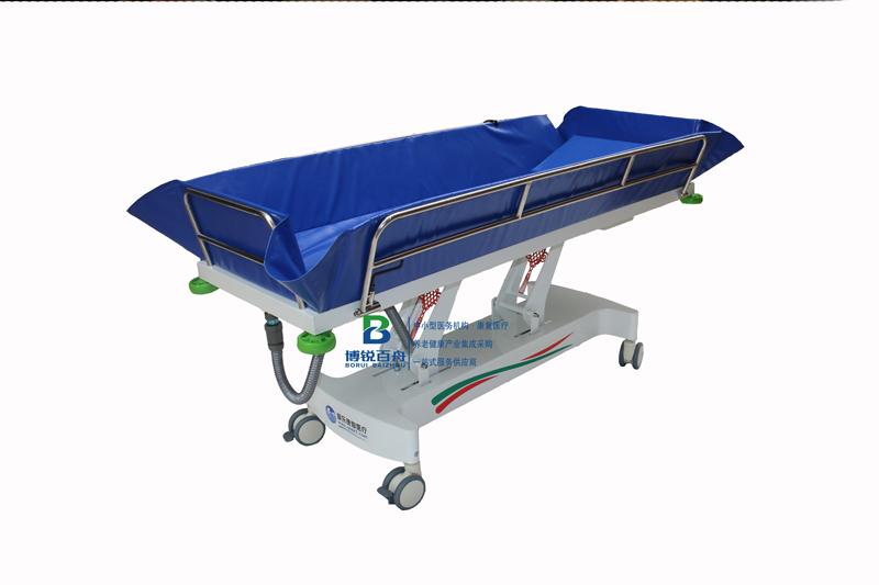 养老院老年人电动直板沐浴推床洗澡床助浴设备