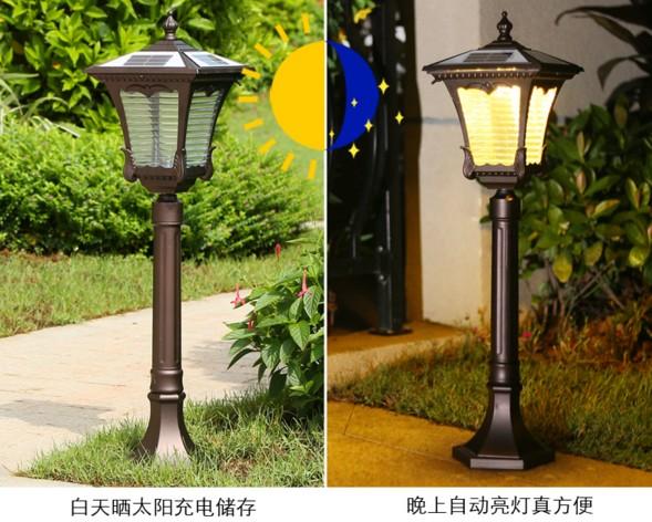 江苏弘光照明销售户外草坪灯公园简约方形别墅草地灯