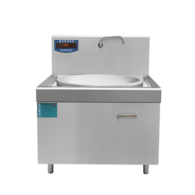 食堂电磁炒锅 单头电磁大锅灶  商用电磁炒炉