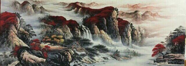 陕西国画名家墨轩直销宝鸡国画山水画客厅画,水墨画,货到付款,纯手绘真迹