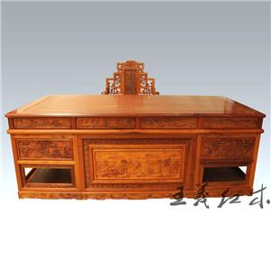 潍坊专业生产清式缅甸花梨办公桌 专业的团队 彰显鲁班精神