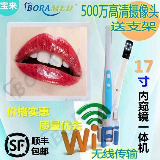 宝来牙科17寸口腔一体机 进口高清摄像头送支架带无线Wifi输出