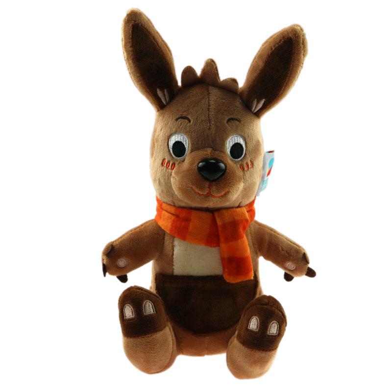 企业吉祥物 定制毛绒玩具 定做袋鼠公仔玩偶 来图来样 LOGO