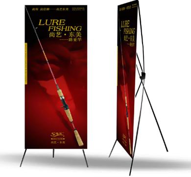 X展架喷绘广告制作批发 X展架不锈钢加强型展示挂画架 厂家供应