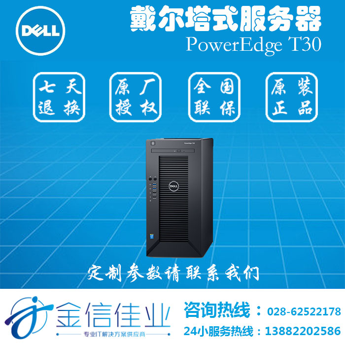 戴尔(DELL)PowerEdge T30服务器主机
