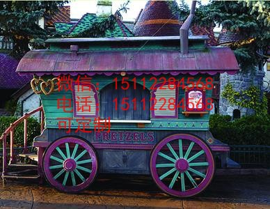 浙江景区售货车;南京时尚手推车;仿古售货车