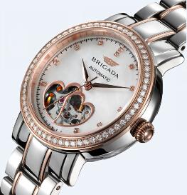 宝茄达牌女士手表全自动机械表女表钢带防水瑞士腕表工厂定制代工