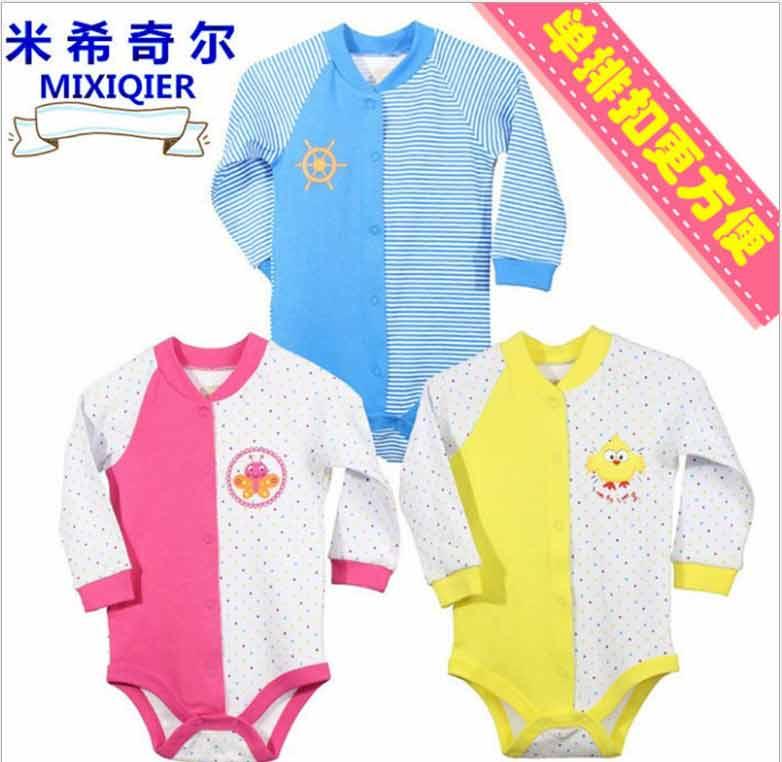 新款婴儿衣服童装秋冬打底婴儿连体衣宝宝爬服儿童长袖秋装新生儿