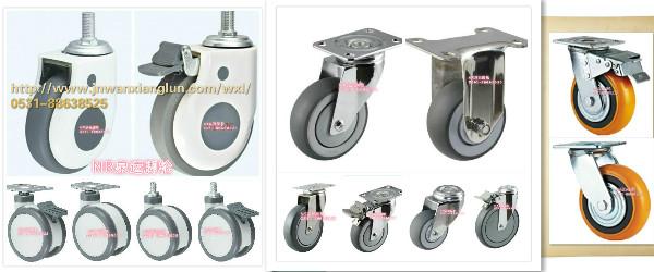 机械设备专用脚轮万向轮,同时加工定制聚氨酯包胶