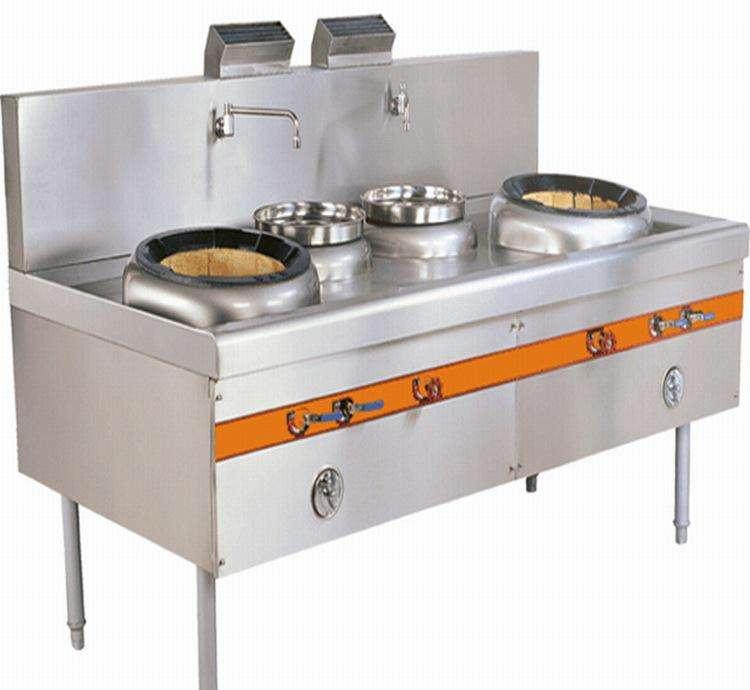 长沙厨房设备厂家节能双头炒炉哪家好 厨房猛火双炒炉
