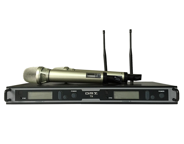 DMJ供应厂家直销真分集远程演出麦克风T-9手持无线话筒