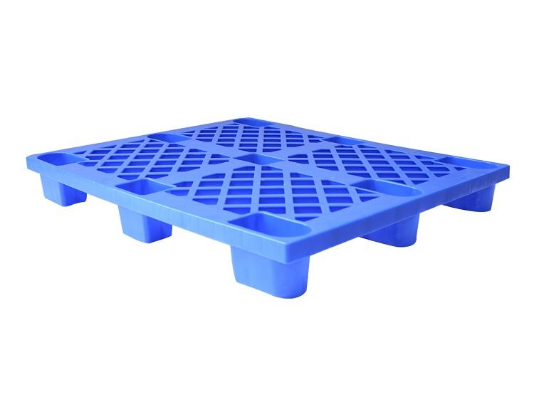 出口廉价环保免检托盘塑料卡板 塑料叉车板 厂家批发1210网格九脚
