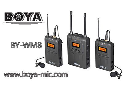 博雅boya无线麦克风BY-WM8无线麦克风如何使用