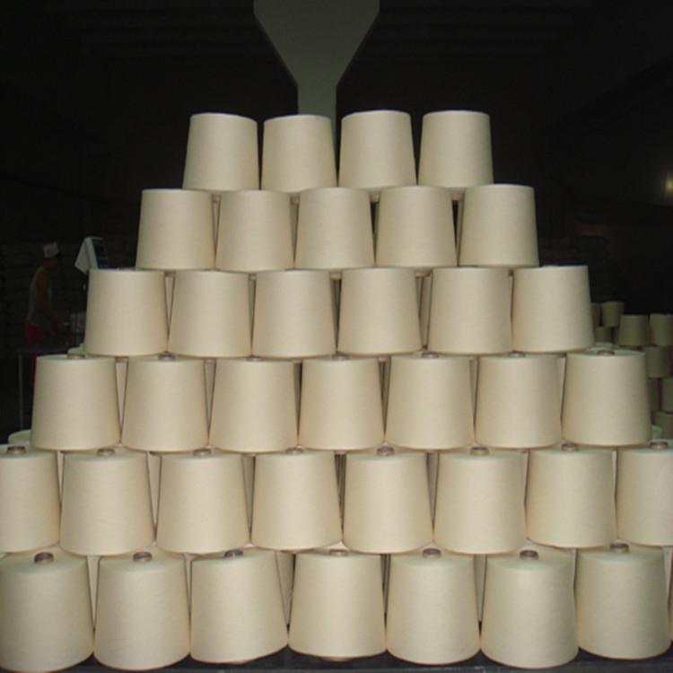 山东现货供应精梳棉粘混纺纱30支针织织布用纱