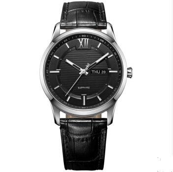 T19宝茄达商务时尚真皮防水不锈钢手表石英表厂家定制代工
