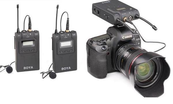 BOYA BY-WM6单反无线麦克风摄像机采访无线领夹话筒小蜜蜂