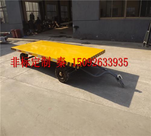 2t民用平板拖车,非标定制平板拖车,牵引架子拖车,托盘拖车,