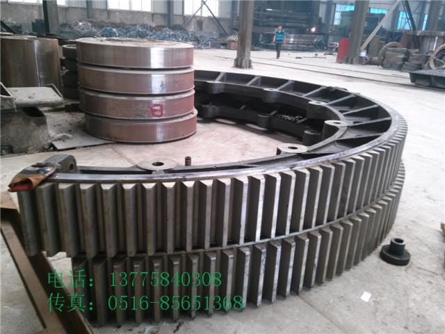 2500单冷机大齿圈冷渣机铸钢大齿轮厂家
