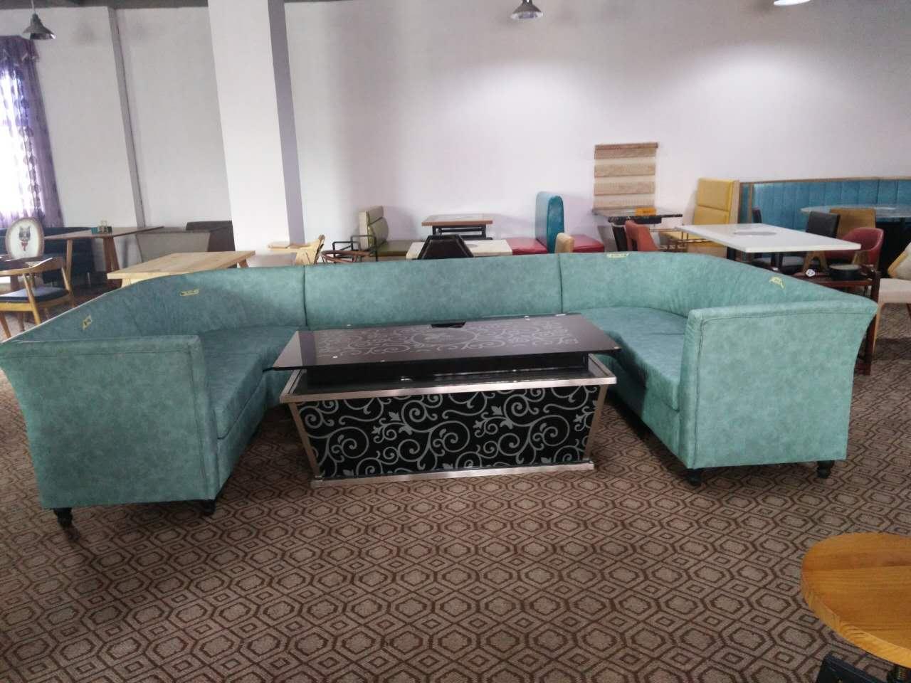 厂家定制 湖南特色烤鱼餐厅弧形沙发卡座沙发尺寸