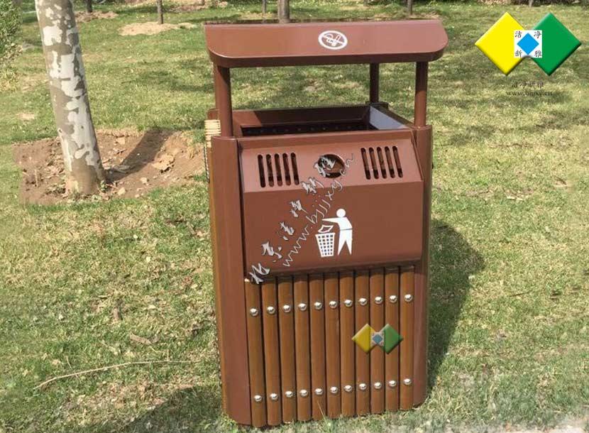 垃圾桶_户外垃圾桶_钢木垃圾桶 公园 小区 新款 厂家直销定制