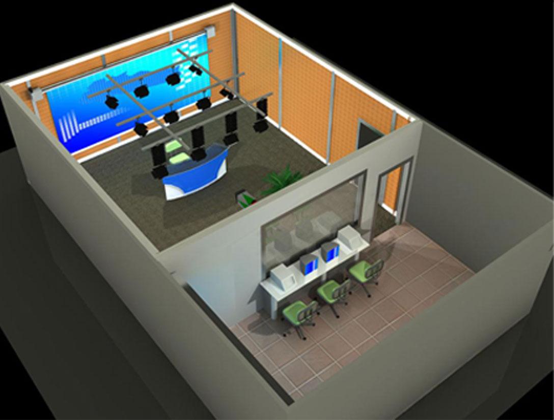 天创华视虚拟演播室建设 演播室装修设备一体化方案 虚拟绿箱