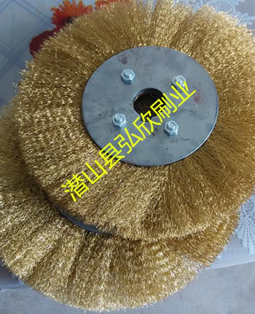 木工抛光铜丝刷 打磨波纹铜丝轮 铜丝轮生产厂家