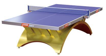 唐山红双喜金彩虹乒乓球桌比赛专用带LED灯