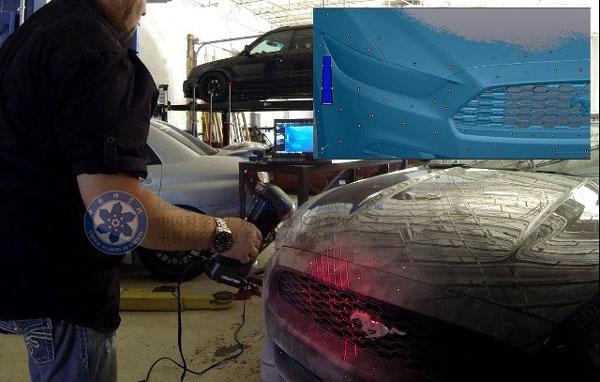 汽车保险杠三维扫描服务,中科院手持式三维扫描仪