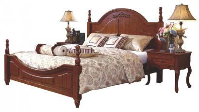 销售小蜗置家不同风格全柏木实木家具床美式双人床