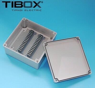 批发工控盒电缆接线盒200*200*95mm 30P-M 塑料带端子电源分线盒