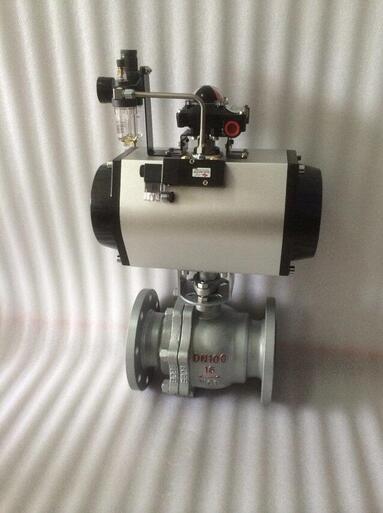 Q641F-16P DN100气动球阀 Q641F不锈钢气动球阀
