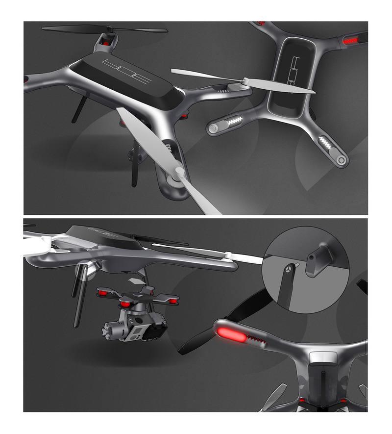 大良无人机产品外观造型设计 典石工业设计公司