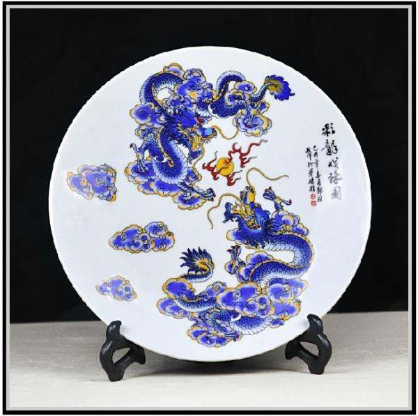 供应陶瓷大瓷盘 陶瓷赏盘 花开富贵大瓷盘 庆典礼品大瓷盘 人物陶瓷瓷盘