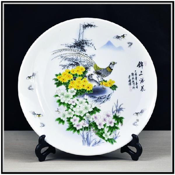 供应陶瓷大瓷盘 陶瓷赏盘  庆典礼品大瓷盘