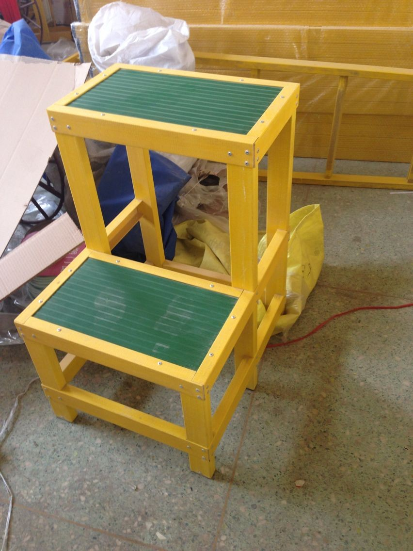 廊坊电力安全绝缘高低凳【玻璃钢绝缘三层凳价格】