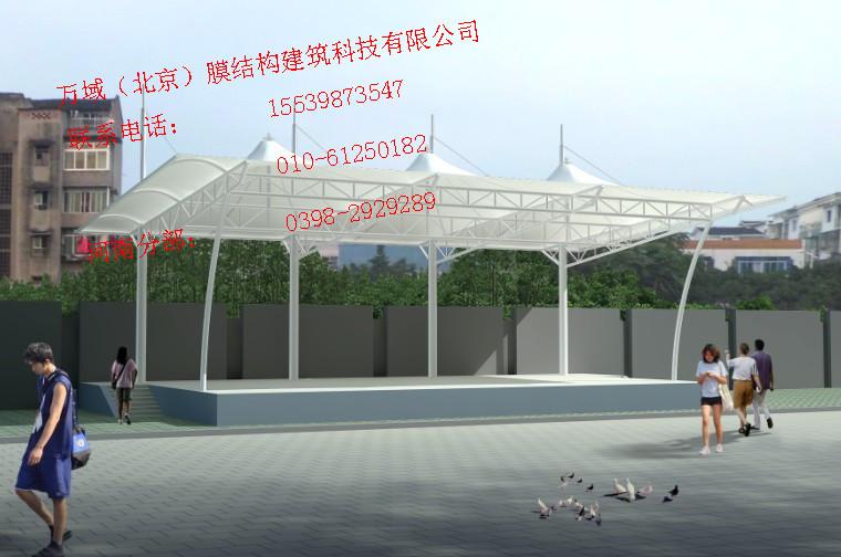 秦皇岛膜结构仓库雨棚制作、仓库张拉膜安装