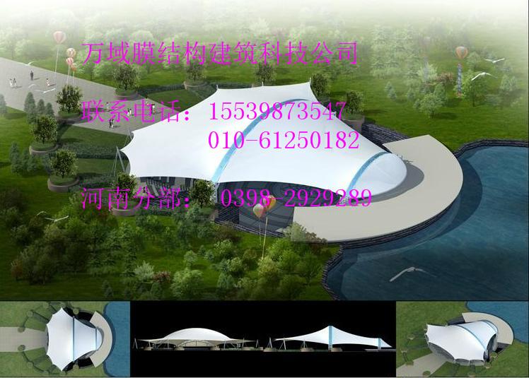 巴彦淖尔地下车库入口膜结构,地下商场入口膜结构