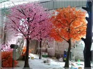 仿真桦树叶绿桦树叶彩桦树叶枫树叶苹果叶榕树叶仿真植物