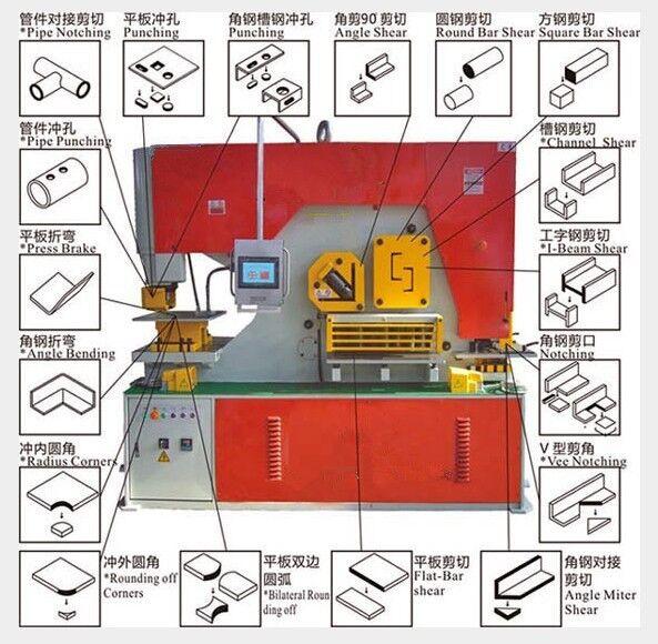 鑫玛特Q35Y-30多功能液压联合冲剪机 冲孔角钢槽钢工字钢剪切机