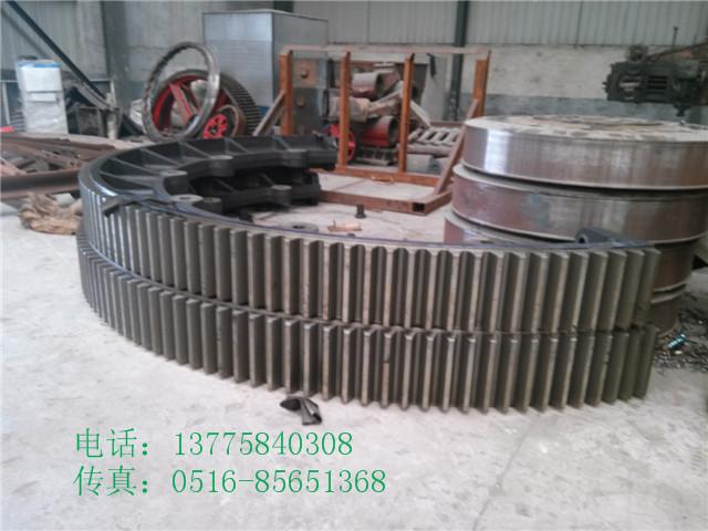 重型2.6x20米煤泥滚筒烘干机大齿轮及烘干机托轮滚圈配件