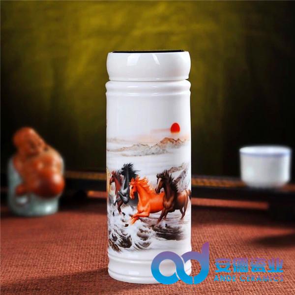 礼品陶瓷茶杯定制  公司活动茶杯定制