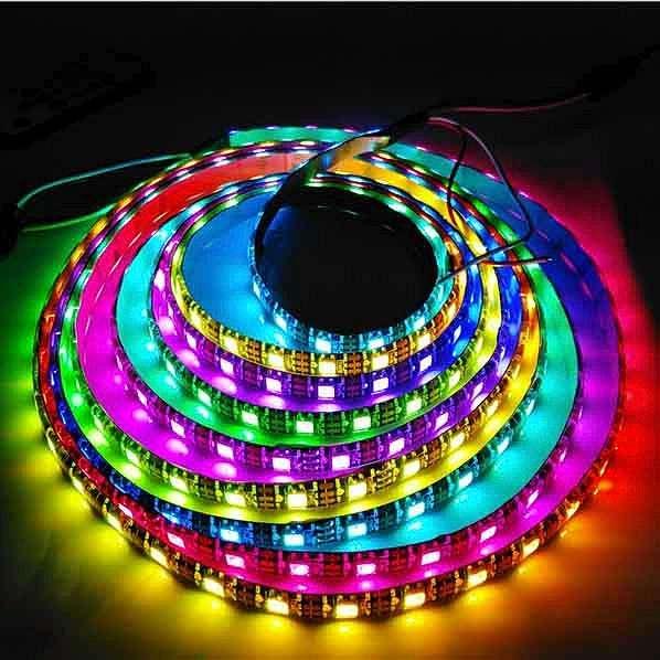 LED灯带 灯条 LED全彩灯带 防水 12V 60灯 厂家直供