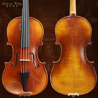 曹氏提琴纯手工成人儿童练习琴小提琴STV-150