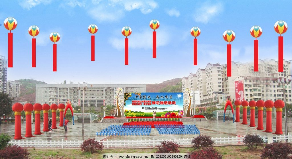 天津一手拱门空飘气球