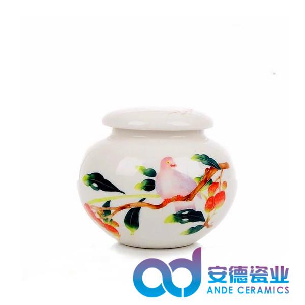 景德镇粉彩高档陶瓷茶叶罐厂家批发