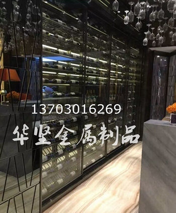 专业定制餐厅红酒架酒柜酒店不锈钢酒柜定做红酒柜酒吧酒架上海