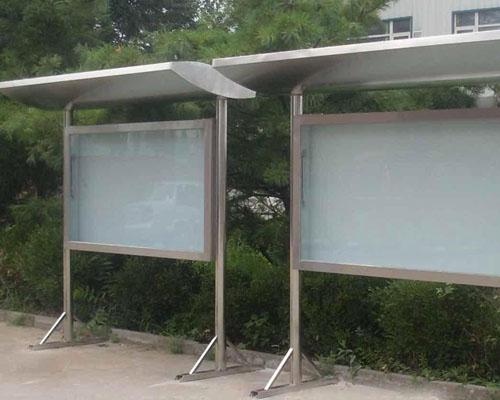 不锈钢宣传栏-广告牌-大连铆焊加工